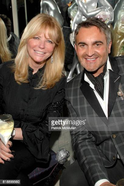 Cheryl Tiegs and Martyn Lawrence Bullard attend Mayor Antonio Villaraigosa celebrates Nikki Haskell's Birthday at Sierra Towers on May 17th 2010 in...