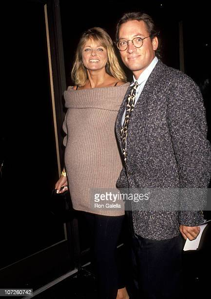 Cheryl Tiegs and Tony Peck during 'The Fisher King' Beverly Hills Premiere at The Academy Theater in Beverly Hills California United States