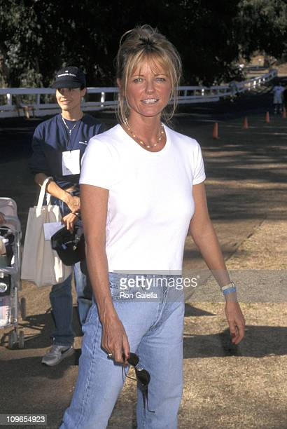 Cheryl Tiegs during 1997 Environmental Media Awards at Will Rogers State Park in Pacific Palisades California United States
