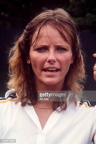 Cheryl Tiegs in tennis gear circa 1970 New York