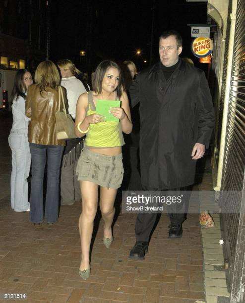 Cheryl Tweedy of Girl Aloud attends the after party in Lillies Bordello for the Westlife homecoming concert in Landsdowne Road June 27 2003 in Dublin...
