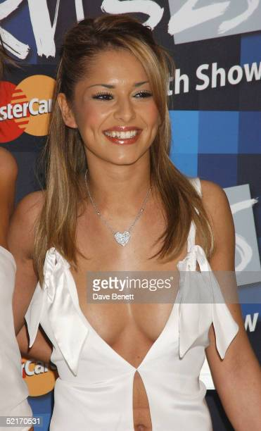 Cheryl Tweedy of Girls Aloud arrives at the 25th Anniversary BRIT Awards 2005 at Earl's Court February 9 2005 in London