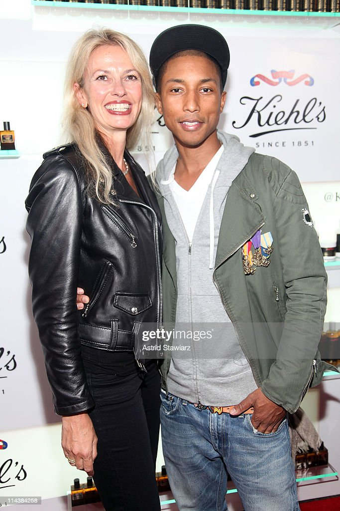 Cheryl Vitali and <a gi-track='captionPersonalityLinkClicked' href=/galleries/search?phrase=Pharrell+Williams&family=editorial&specificpeople=161396 ng-click='$event.stopPropagation()'>Pharrell Williams</a> attends Kiehl's 160th anniversary celebration at Kiehl's Flagship Store on May 18, 2011 in New York City.