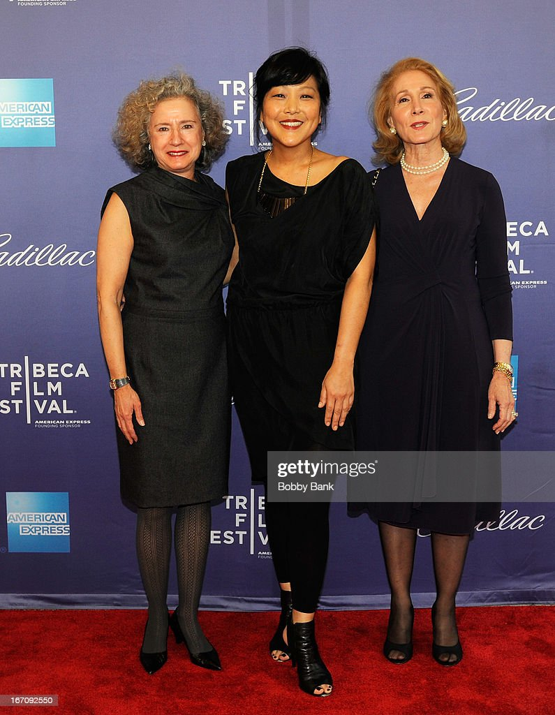 Cheryl Weisenfeld, director Chiemi Karasawa and Elizabeth Hemmerdinger attend the screening of 'Elaine Stritch: Shoot Me' during the 2013 Tribeca Film Festival at SVA Theater 1 on April 19, 2013 in New York City.