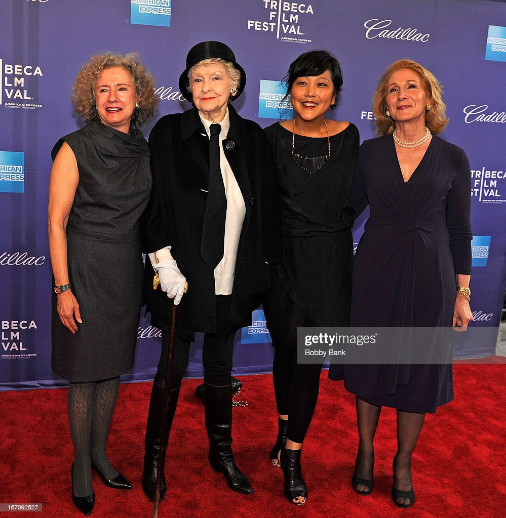 Cheryl Weisenfeld, Elaine Stritch, director Chiemi Karasawa and Elizabeth Hemmerdinger attend the screening of 'Elaine Stritch: Shoot Me' during the 2013 Tribeca Film Festival at SVA Theater 1 on April 19, 2013 in New York City.