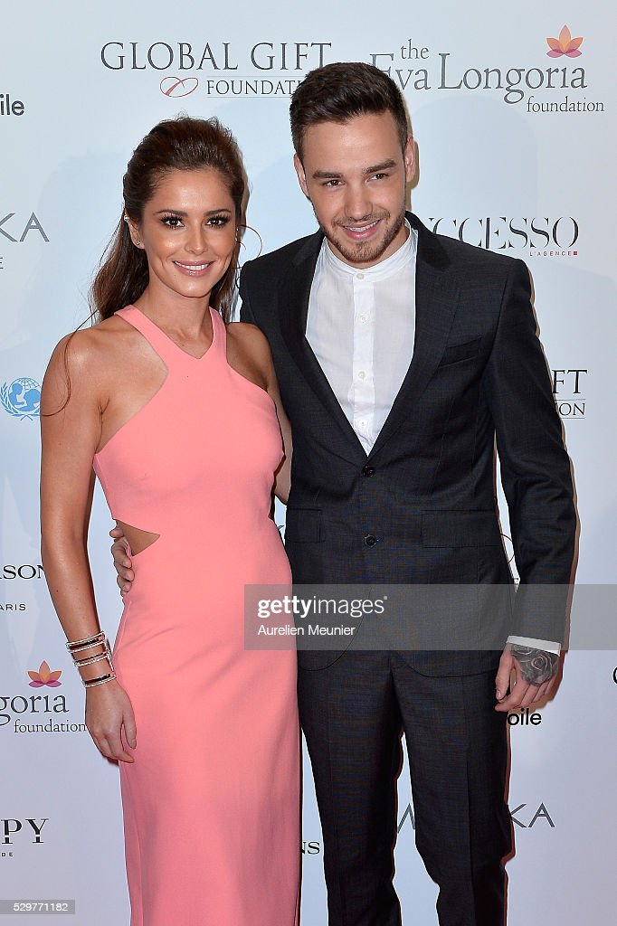 CherylFernandezVersini and Liam Payne attend the Global Gift Gala photocall at Four Seasons Hotel George V on May 9 2016 in Paris France