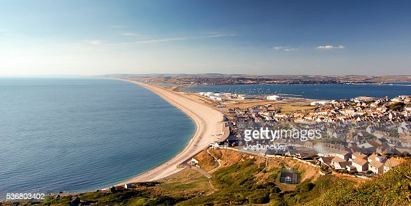 Chesil Beach and Fortuneswell : Stock Photo
