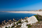 Overlooking Chesil Cove on the Isle of Portland Dorset England UK Europe