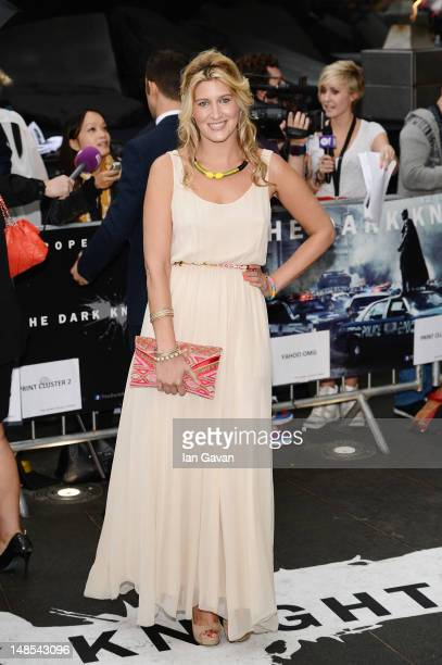 Cheska Hull attends the European premiere of 'The Dark Knight Rises' at Odeon Leicester Square on July 18 2012 in London England