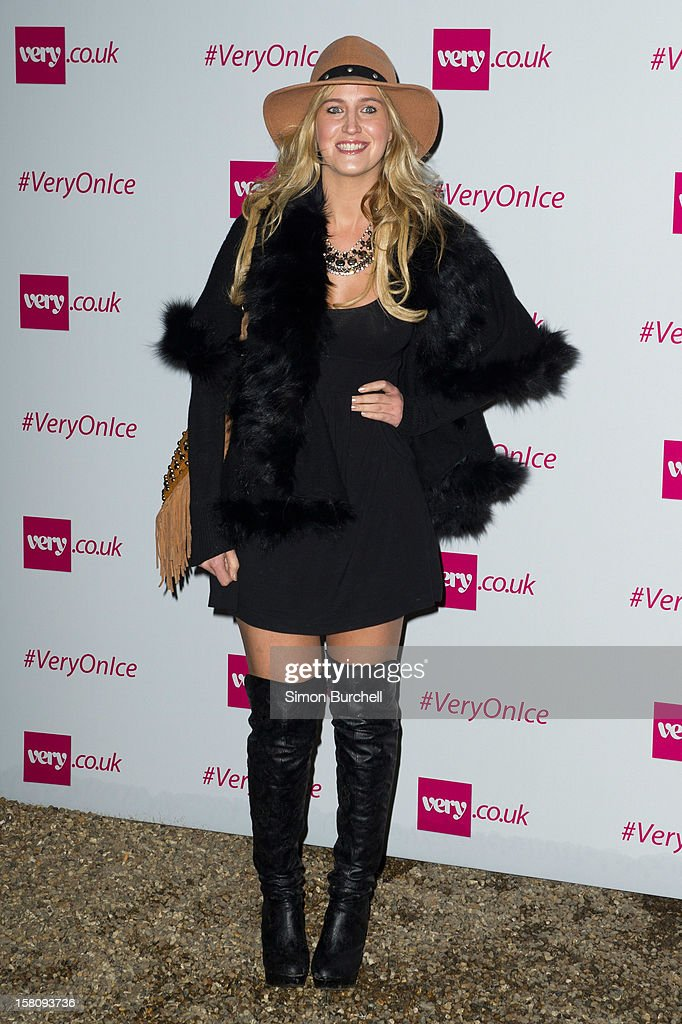 Cheska Hull attends the Very.co.uk Christmas catwalk on ice show at Tower of London on December 10, 2012 in London, England.