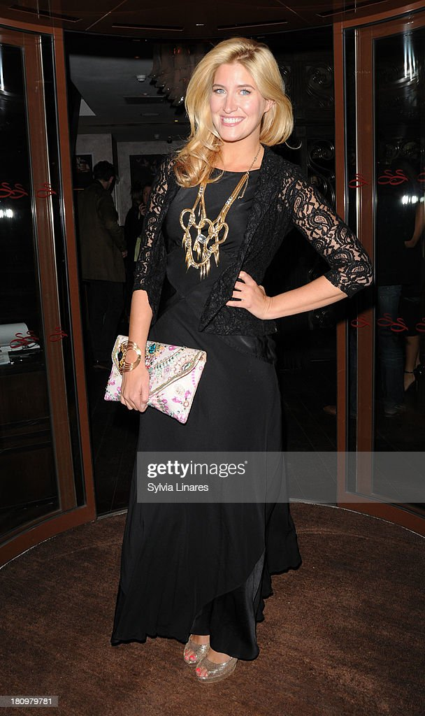 Cheska Hull leaving Sanctum Hotel on September 18, 2013 in London, England.