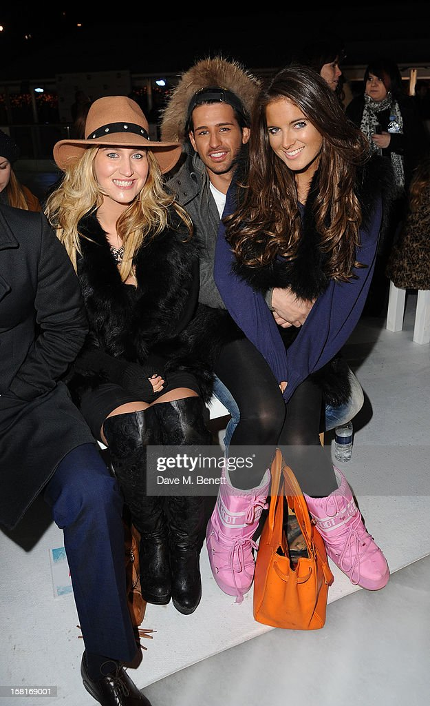 Cheska Hull, Ollie Locke and Binkie Feldstead attend The UK's first Catwalk on Ice from Very.co.uk, held at the Tower of London Ice Rink, gave shoppers a more entertaining way to shop their Christmas outfits this season at Tower of London on December 10, 2012 in London, England.