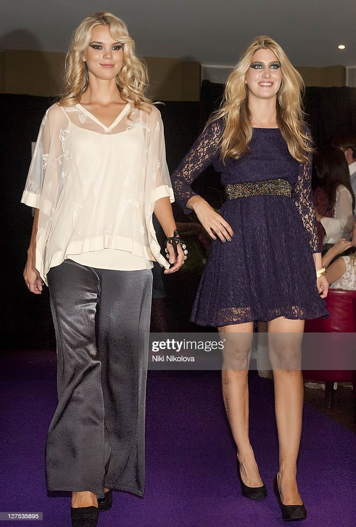 Cheska Hull (R) walks the runway during Catwalk @ Kings Road at beaufort house on September 28, 2011 in London, England.