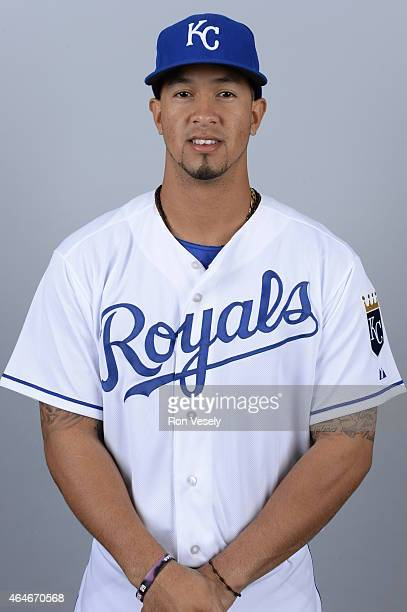 Cheslor Cuthbert of the Kansas City Royals poses during Photo Day on Friday February 27 2015 at Surprise Stadium in Surprise Arizona