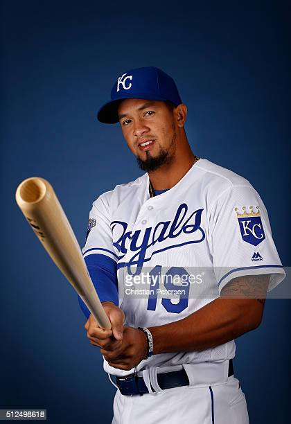 Cheslor Cuthbert of the Kansas City Royals poses for a portrait during spring training photo day at Surprise Stadium on February 25 2016 in Surprise...