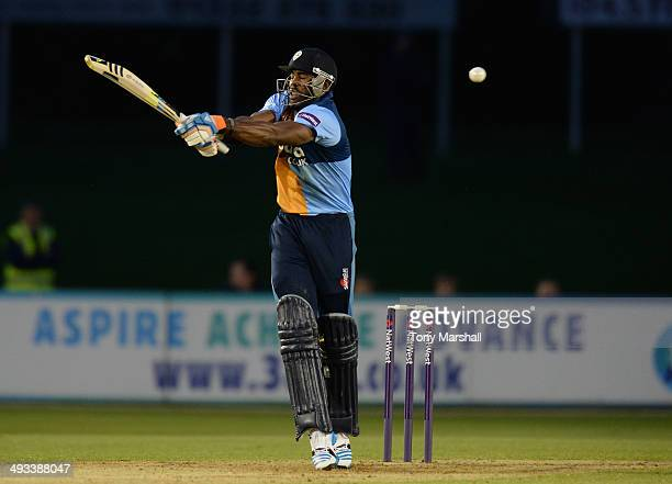 Chesney Hughes of Derbyshire Falcons batting during the NatWest T20 Blast match between Derbyshire Falcons and Lancashire Lightning at The County...