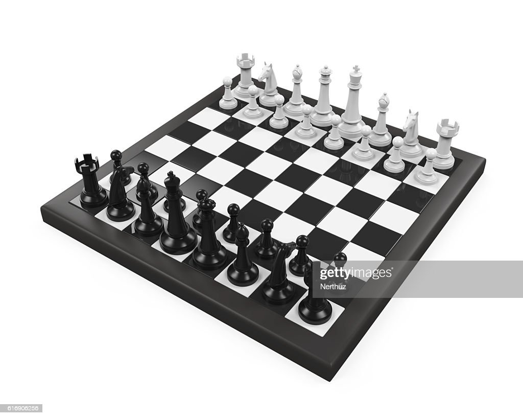 Chess Board with Chess Pieces : Stock Photo