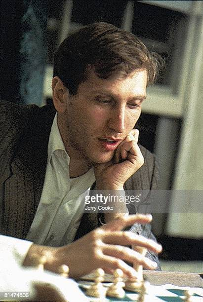 Chess Closeup of Bobby Fischer in action 10/5/1971