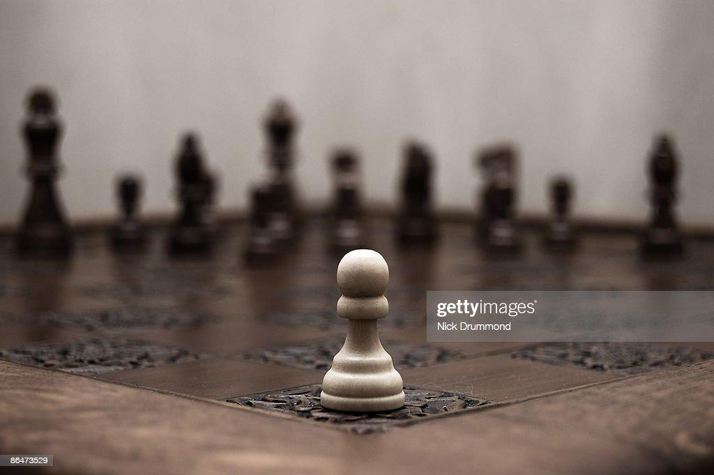 Chess Conflict : Stock Photo