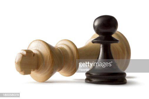 Chess: King and Pawn Isolated on White Background