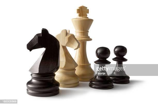 Échecs: Knights et de pions d'un lit King (très grand lit),