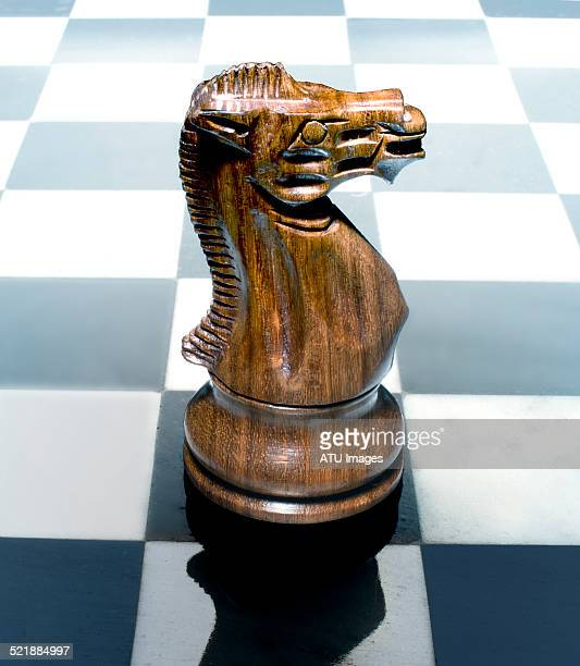 Chess knight on board