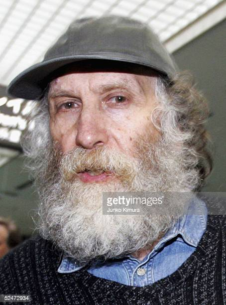 Chess legend Bobby Fischer appears at New Tokyo International Airport for a departure March 24 2005 in Narita Japan Fischer was released from custody...