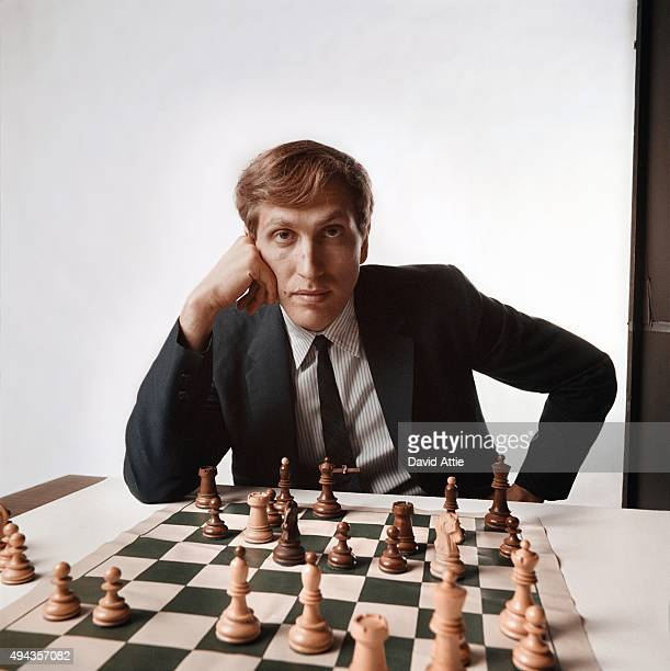 Chess master Bobby Fischer poses for a portrait in 1971 in New York City New York