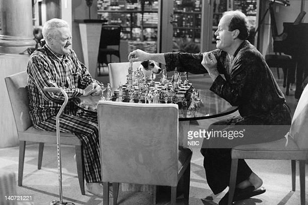 FRASIER 'Chess Pains' Episode 18 Pictured John Mahoney as Martin Crane Kelsey Grammer as Dr Frasier Crane Photo by NBCU Photo Bank