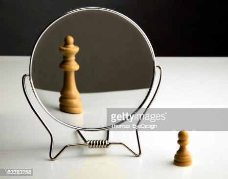 Chess Pawn Imagining Itself as a Queen.