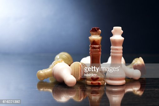 Chess Pieces On Dark : Bildbanksbilder