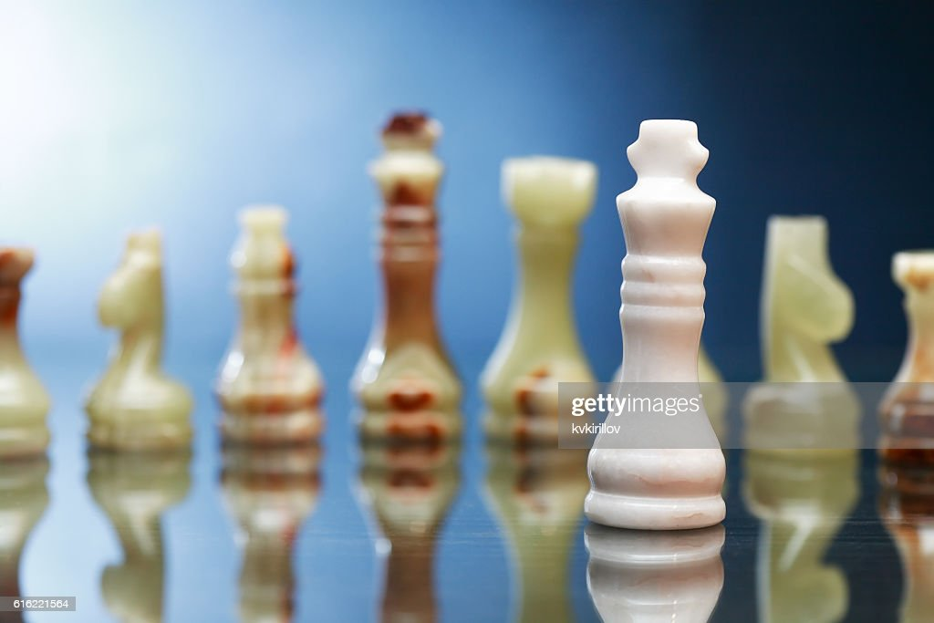Chess Pieces On Dark : Foto stock