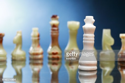 Chess Pieces On Dark : Stock-Foto