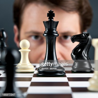 Chess player thinking on next move