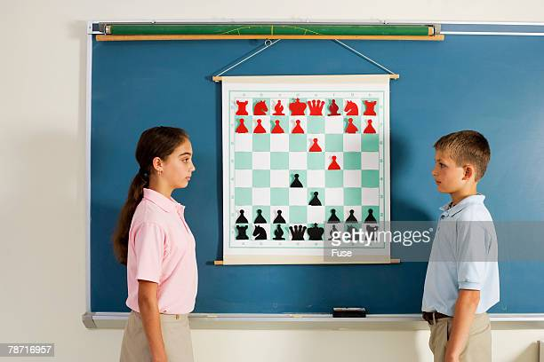Chess Players Stare Down