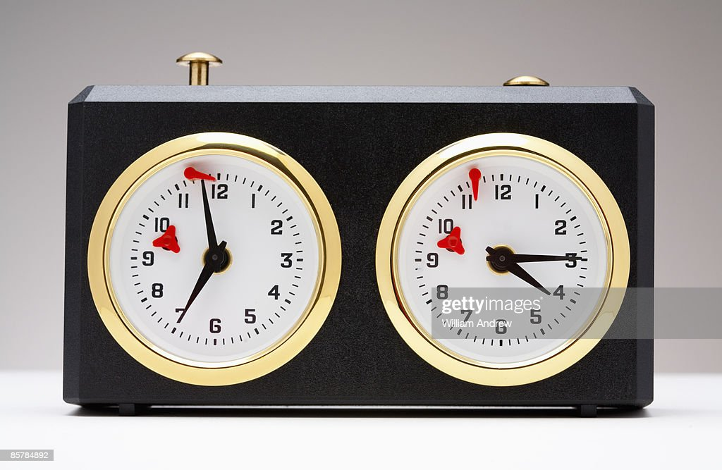 Chess time clock : Stock Photo