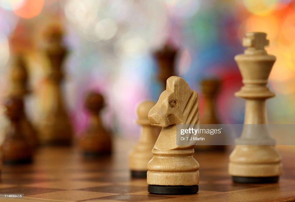 Chessboard study : Stock Photo