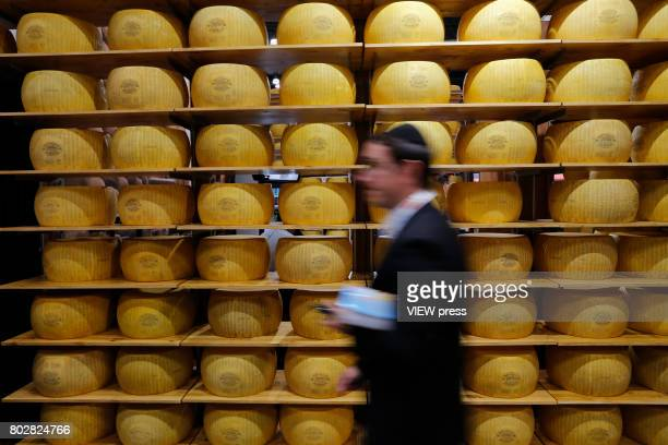 Chesse are displayed at the Annual Summer Fancy Food Show on June 262017 at the Javits Center in New York City