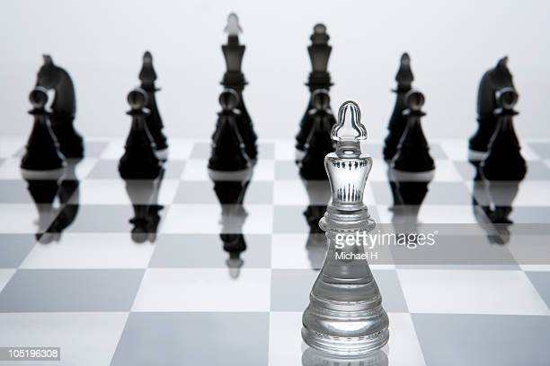 Chessman of king who invaded enemy