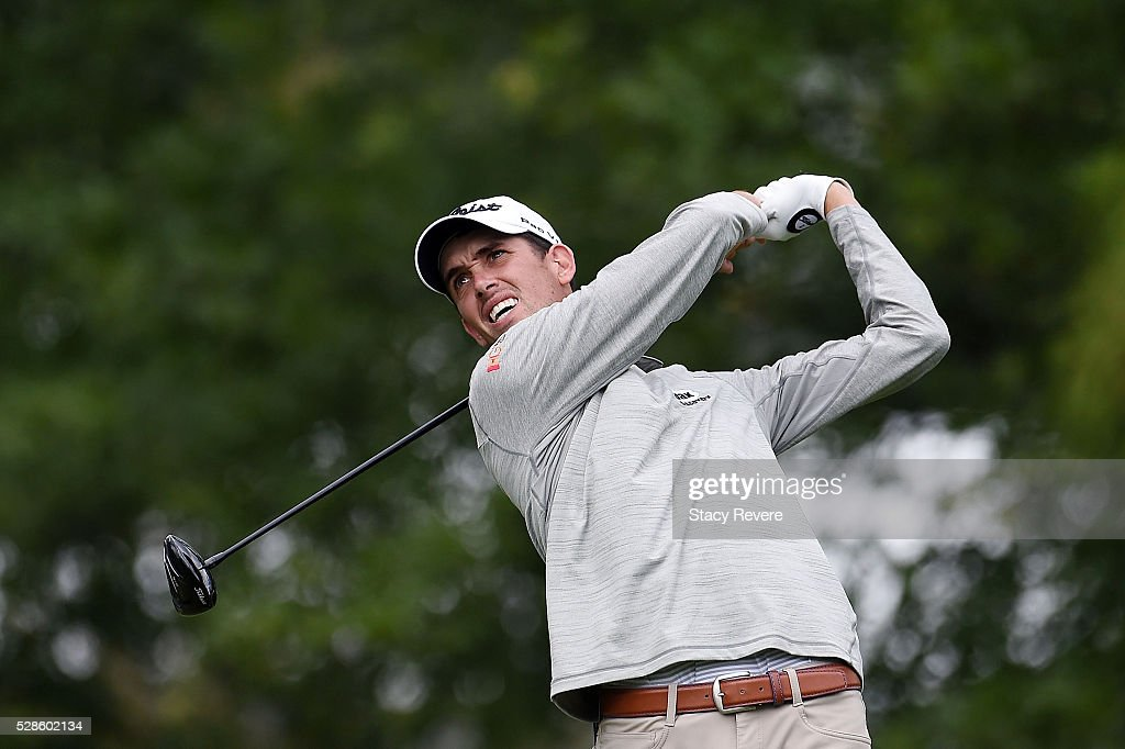<a gi-track='captionPersonalityLinkClicked' href=/galleries/search?phrase=Chesson+Hadley&family=editorial&specificpeople=10071666 ng-click='$event.stopPropagation()'>Chesson Hadley</a> hits his tee shot on the 16th hole during the second round of the Wells Fargo Championship at Quail Hollow Club on May 6, 2016 in Charlotte, North Carolina.