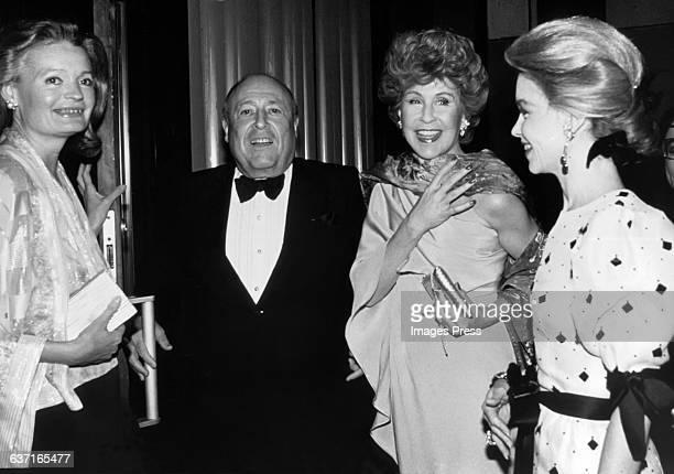 Chessy Rayner Jerry Zipkin Betsy Bloomingdale and Lynn Wyatt circa 1982 in New York City