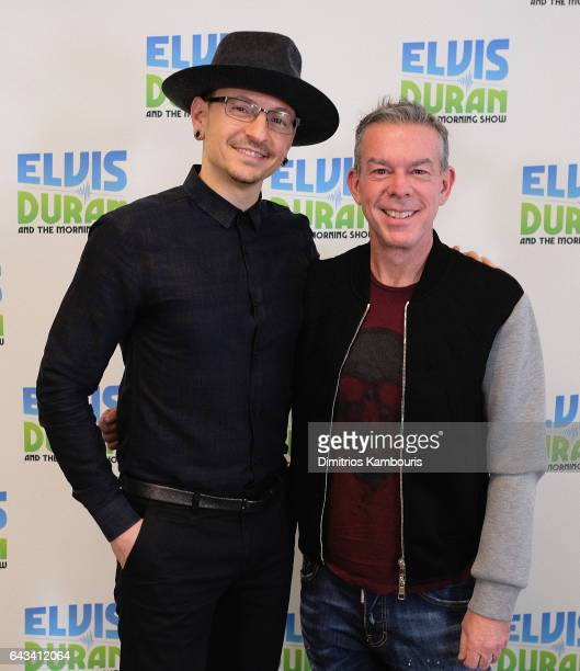 Chester Bennington and Elvis Duran attend 'The Elvis Duran Z100 Morning Show' at Elvis Duran Offices on February 21 2017 in New York City