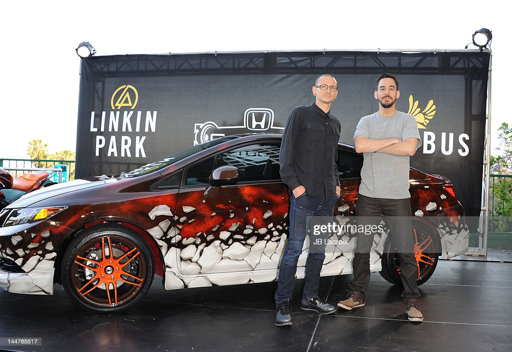 linkin park unveils honda si coupe and cbr250r motorcycle at house