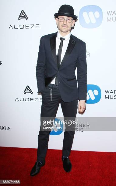 Chester Bennington arrives at Warner Music Group's Annual GRAMMY Celebration held at Milk Studios on February 12 2017 in Hollywood California
