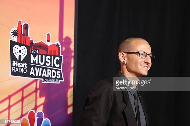 Chester Bennington attends the 2014 iHeartRadio Music Awards press room held at The Shrine Auditorium on May 1 2014 in Los Angeles California