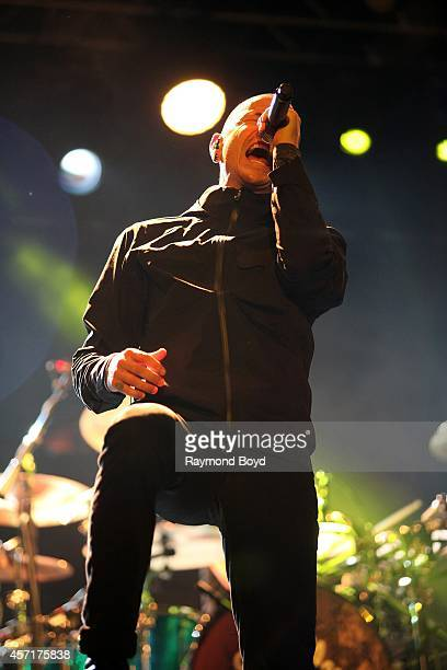 Chester Bennington from Stone Temple Pilots performs during the 'Louder Than Life' Music Festival in Champions Park on October 04 2014 in Louisville...