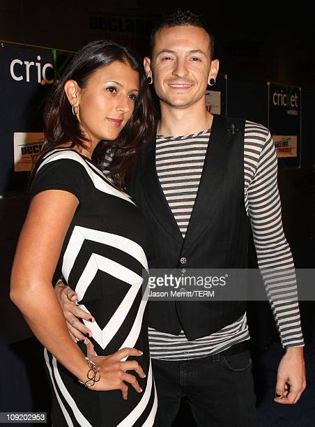 Chester Bennington of Linkin Park and wife Talinda Bennington arrive at the Declare Yourself Hollywood Turns 18 at the Beverly Hills Cultural Arts...