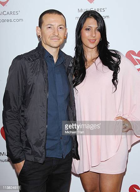 Chester Bennington of Linkin Park arrives at the 7th Annual MusiCares MAP Fund benefit concert held at Club Nokia on May 6 2011 in Los Angeles...
