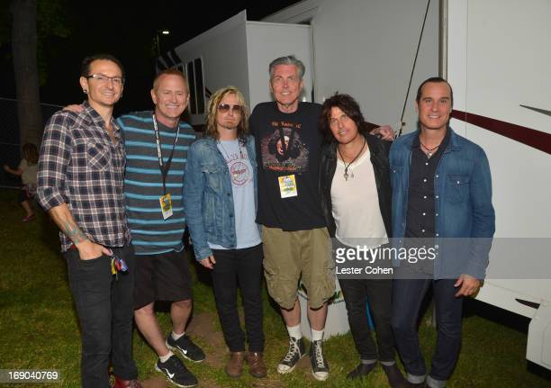 Chester Bennington of Linkin Park Kevin Ryder and Eric Kretz of the Stone Temple Pilots Gene 'Bean' Baxter and Dean DeLeo and Robert DeLeo of the...