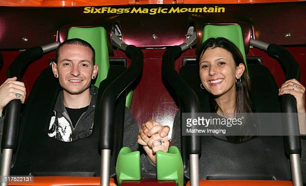 Chester Bennington of Linkin Park with guest *EXCLUSIVE*